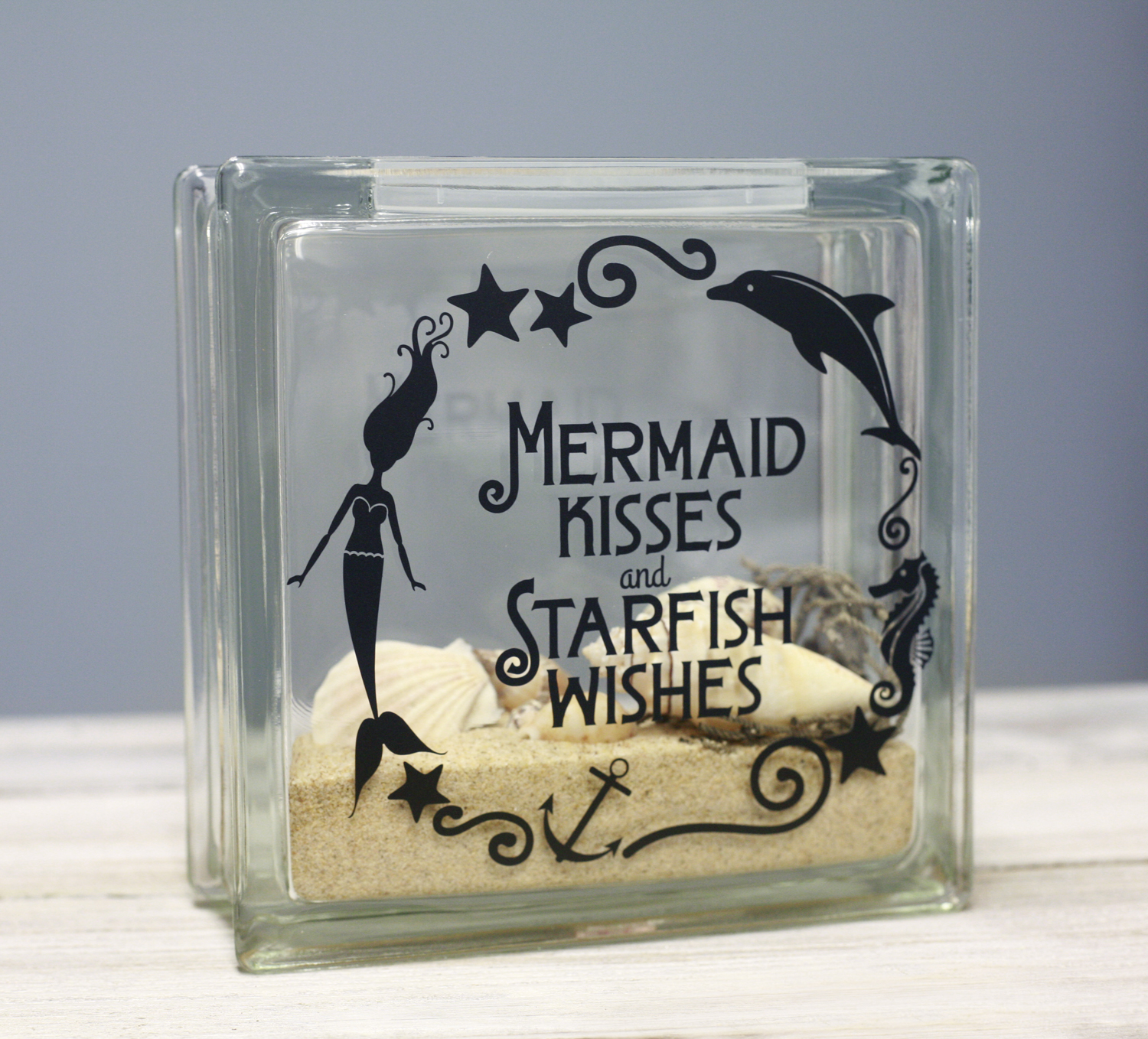Ben franklin crafts and frame shop diy mermaid kisses for Clear glass blocks for crafts