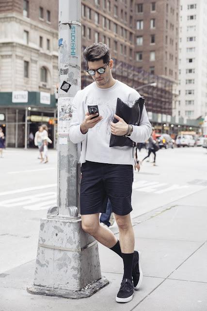 Look Masculino para o inverno 2017 com meias longas