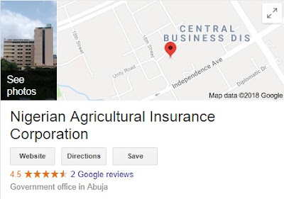 Nigerian Agricultural Insurance Corporation Recruitment Login 2018/2019 - (NAIC) Form Online
