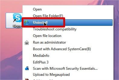 uninstall right click tools