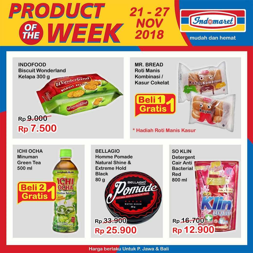 Indomaret - Promo Product of The Week Periode 21 - 27 November 2018