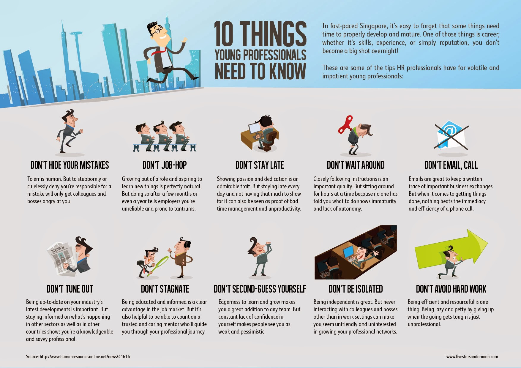 10 things young professionals should know - infographic