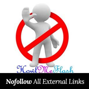 auto rel nofollow tag all external links