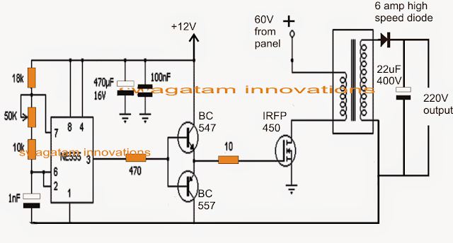 IC 555 Based Flyback Buck/Boost Converter