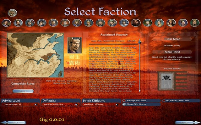 The Selection Screen