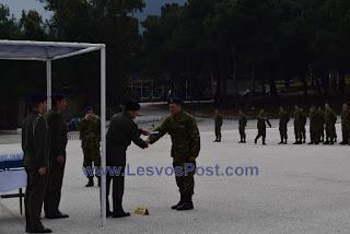 Στο Στρατόπεδο ΥΠΛΓΟΥ ΜΙΧΑΗΛ ΜΑΚΡΗ στο αεροδρόμιο Μυτιλήνης παρουσιάζονται οι οπλίτες από την Λέσβο για την ΕΣΣΟ Μαρτίου