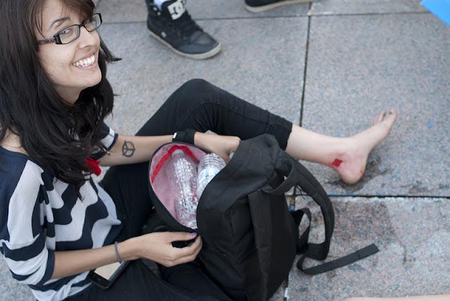 Tatoo-o-thon de carrés rouges, 14 juin 2012, place Émilie-Gamelin, Montréal [photos David Champagne]