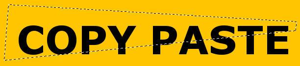 Seleksi bagian yang akan di copy paste di GIMP