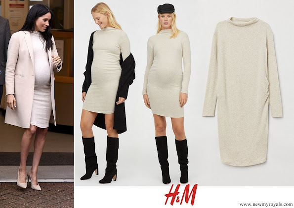 Meghan Markle wore H&M MAMA Fine Knit Dress