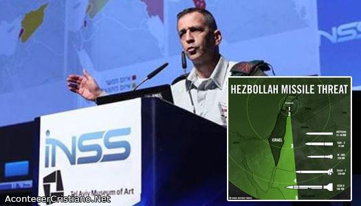 Militar israelí advierte que 170 mil misiles apuntan a Israel