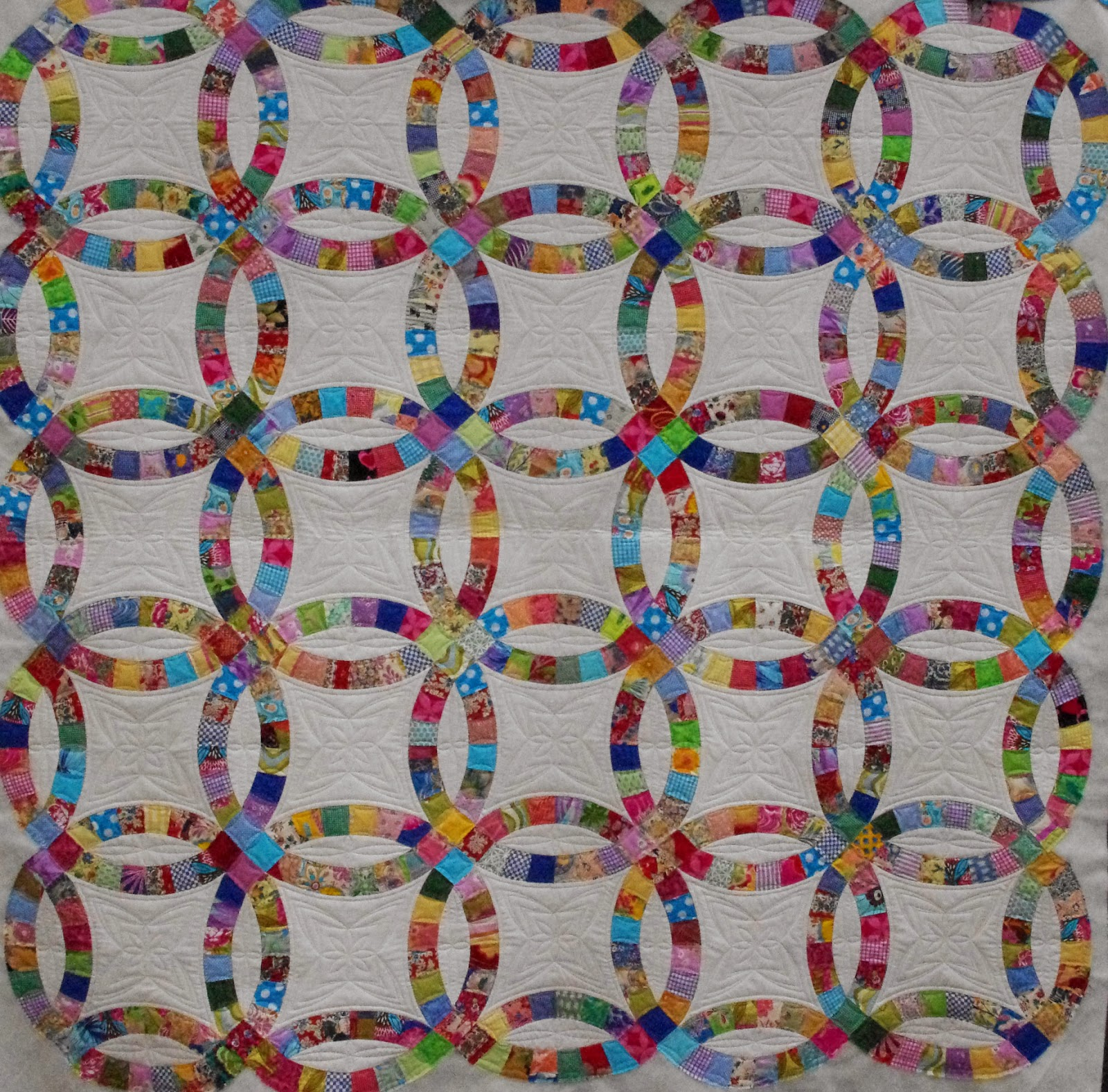 quilts on bastings: double wedding ring quilt
