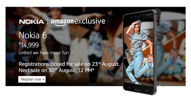 Nokia 6 Sale on Amazon.in