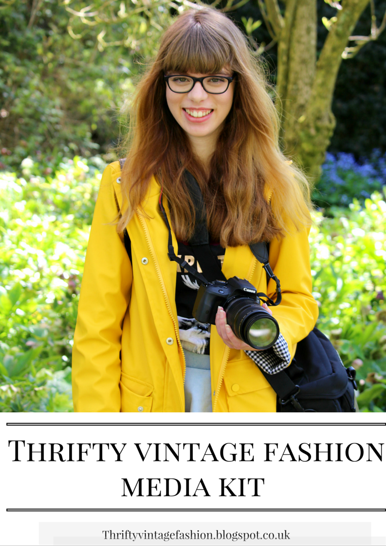 How To Make A Media Kit For Your Blog lifestyle blogger UK thrifty vintage fashion
