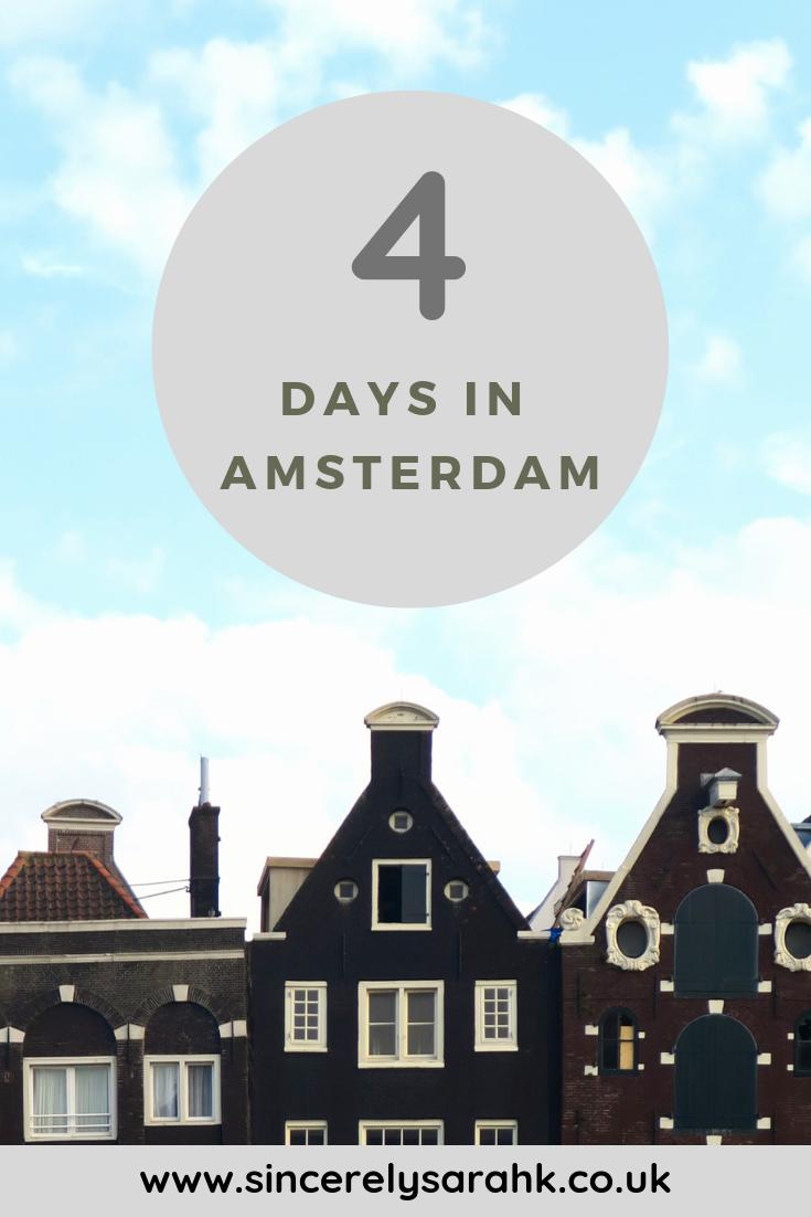 4 Days in Amsterdam- Amsterdam Highlights- Pinterest image