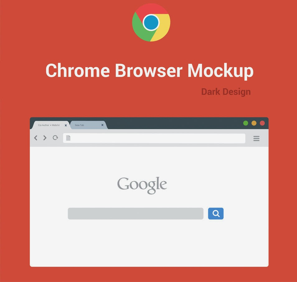 Free Chrome Browser Mockup Design Template (AI)