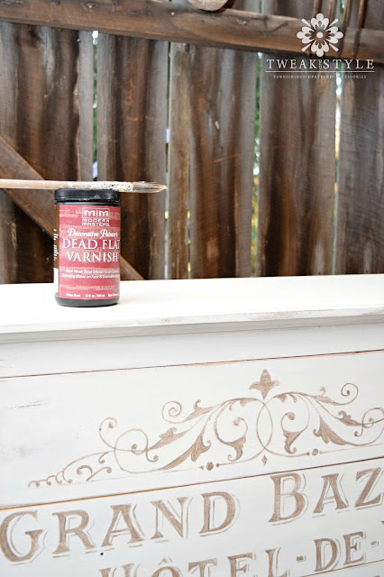 Tweak & Style Blog: Sealing Your Painted Furniture with Modern Masters Dead Flat Varnish