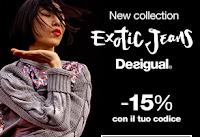 Logo Desigual: non il 10% ma il 15% di sconto solo per nuovi utenti