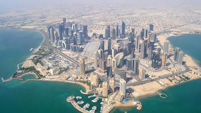 negeri qatar dari atas langit