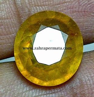 Batu Permata Yellow Safir