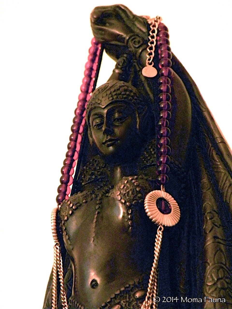 NYX, Νύξ, Nox Household Shrine Bronze Figure.