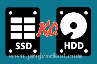 SSD Harddisk ile HDD Harddisk Arasında ki Farklar