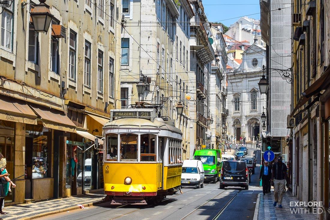 Trolley Car Tram in Lisbon Portugal