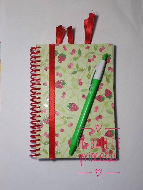 Agenda escolar tamaño bolsillo