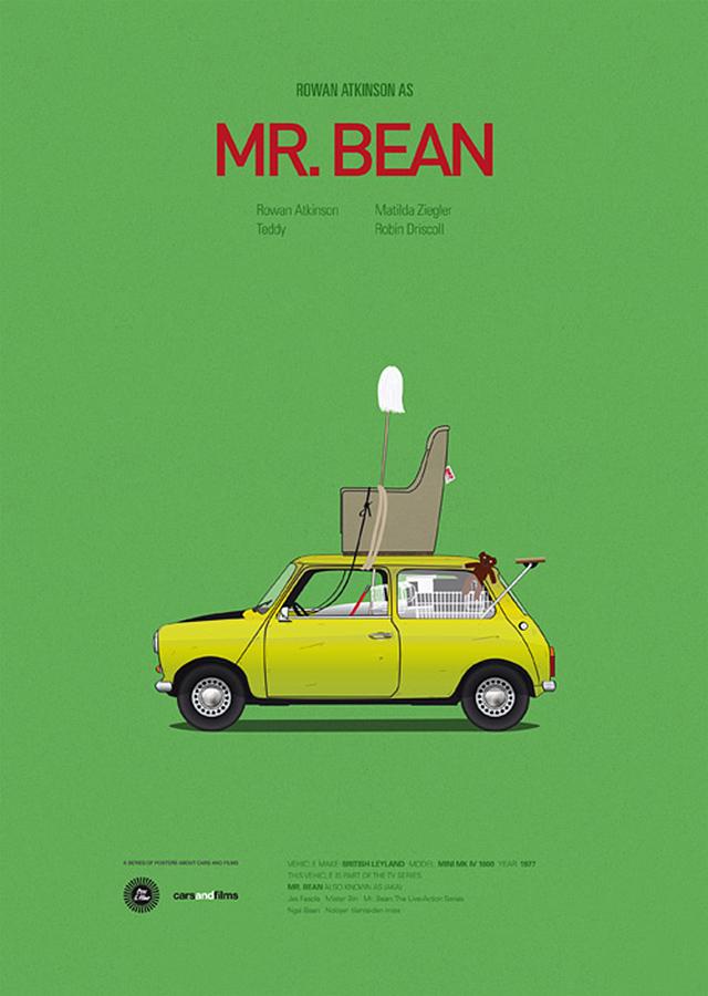 minimalist movie cars graphic design