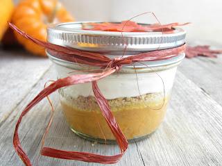 Creamy Layered Pumpkin Pie in a Jar
