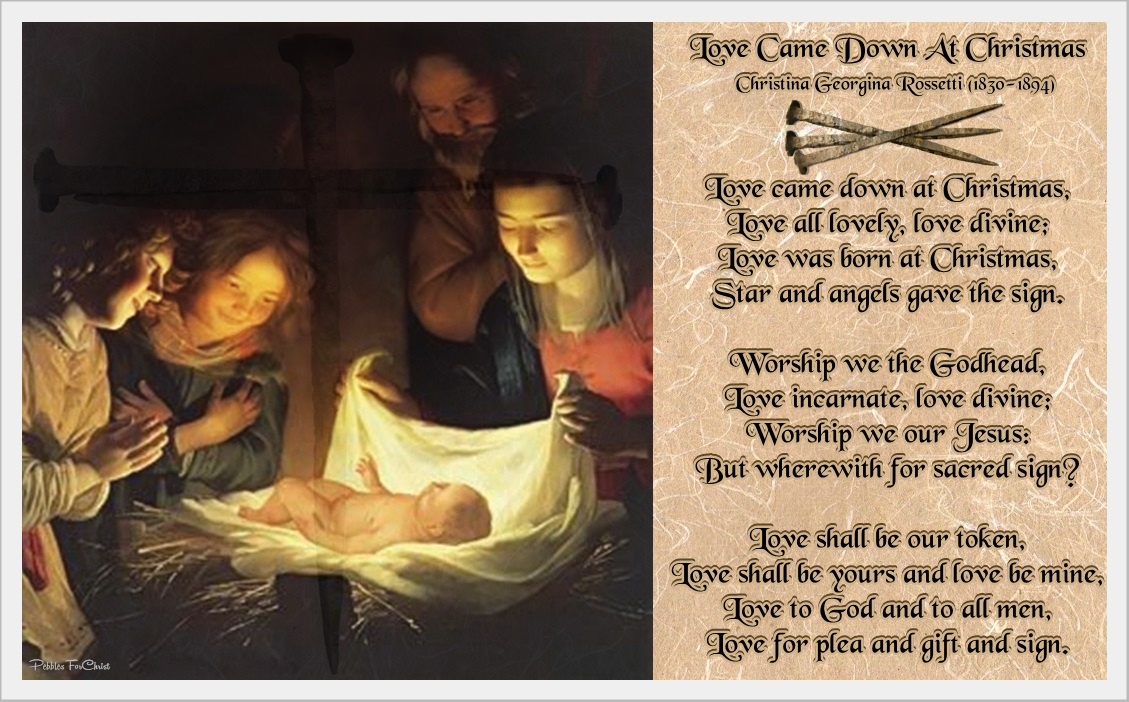 a poem love came down at christmas