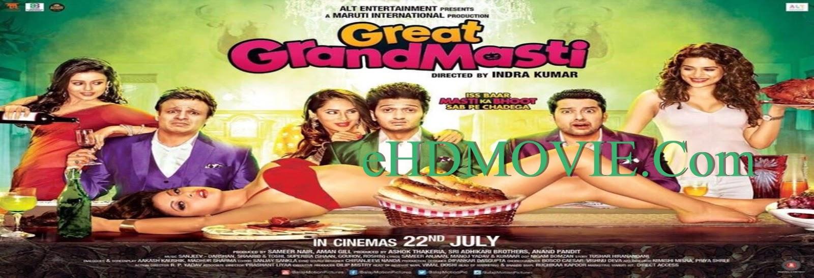 Great Grand Masti 2016 Full Movie Hindi 720p - 480p ORG BRRip 450MB - 1GB ESubs Free Download