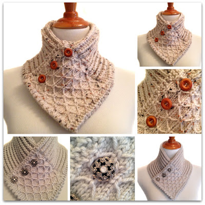 Quilted Lace Ascot Handmade Accessory Knit Scarf