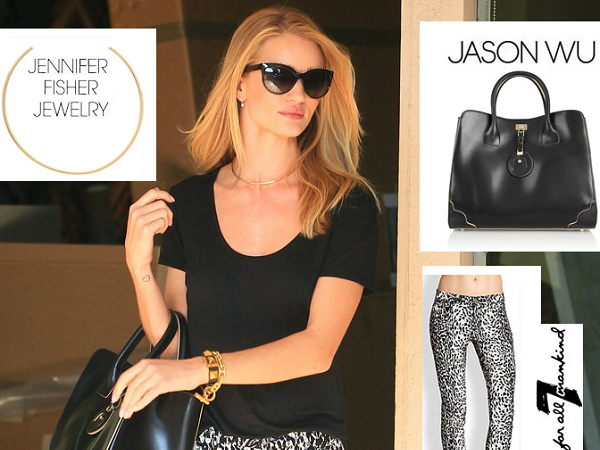 Look - Rosie Huntington-Whiteley - West Hollywood - Califórnia