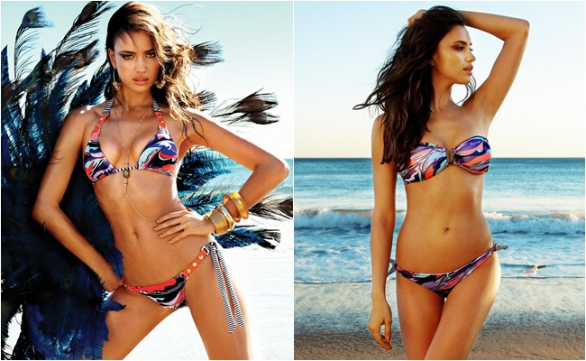 Irina Shayk for Beach Bunny swimwear campaign
