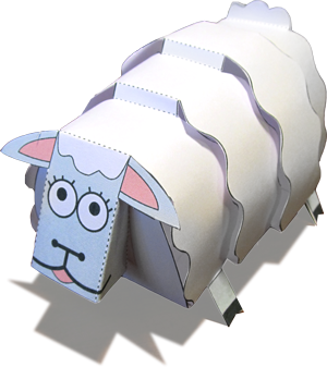 Christmas Sheep Papercraft