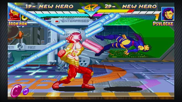 Repulsor Blast em Marvel Super Heroes dos arcades da década de 90