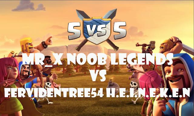 Jadi ketika day pengumpulan kartu semua anggota yang ikut clan war akan menggunakan kartu War kedua Mr_X Noob Legends Vs FeRvidEntRee54 H.E.I.N.E.K.E.N