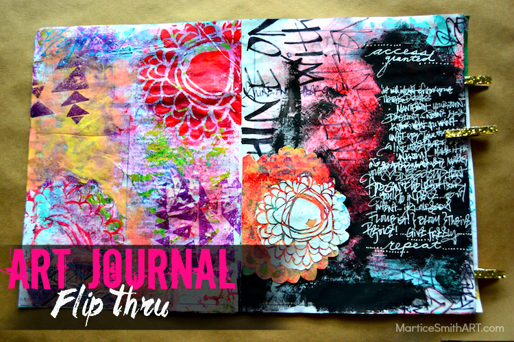 Art Journal Flip Thru #1 by Martice Smith II