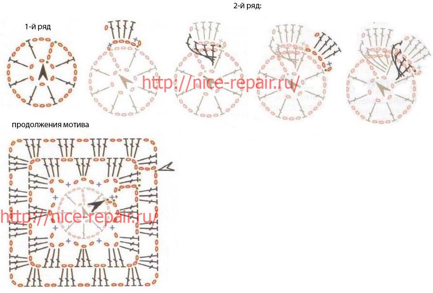 Crochet For Children: Wonderful Flowers Blanket - Free Diagram