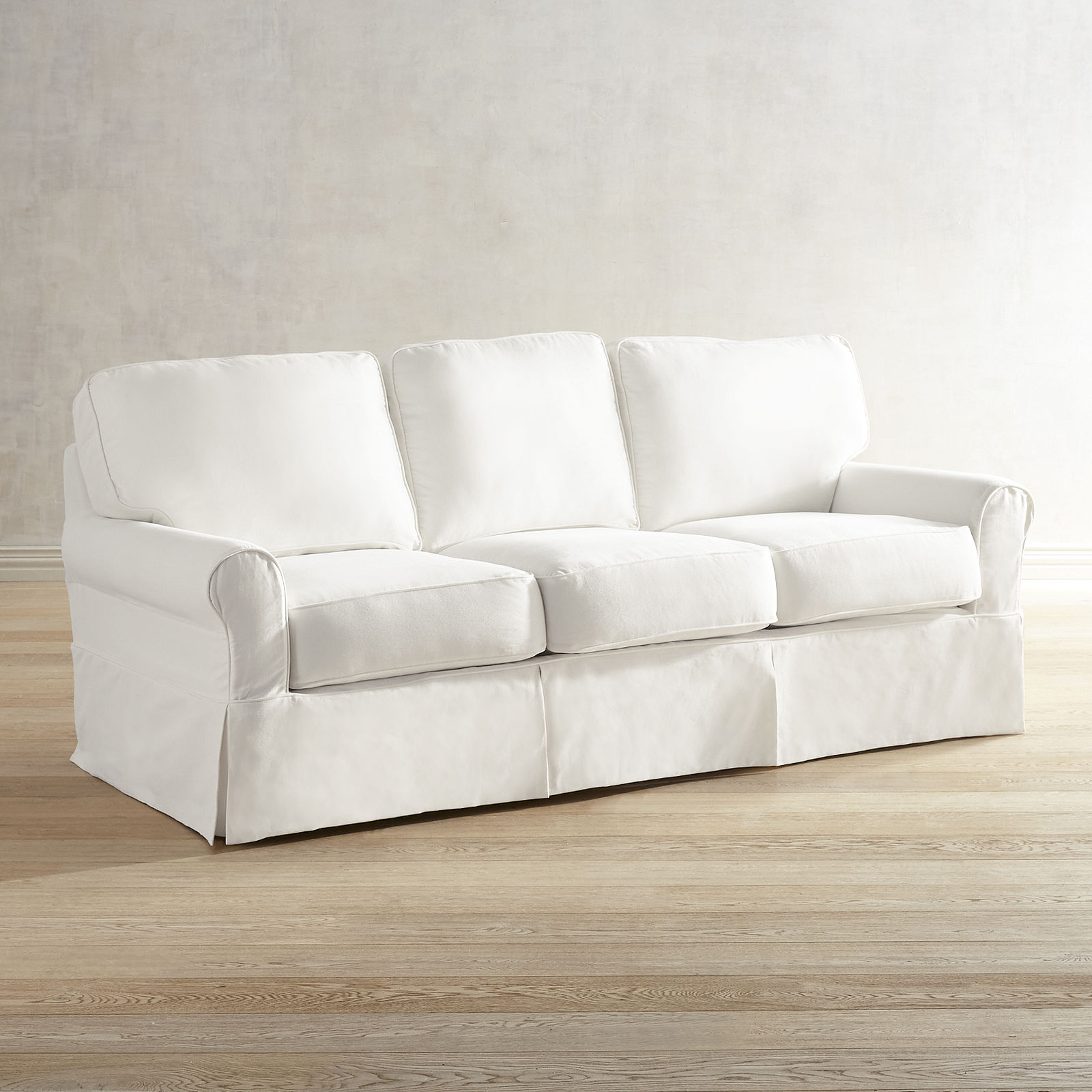best white slipcovered sofa on sale
