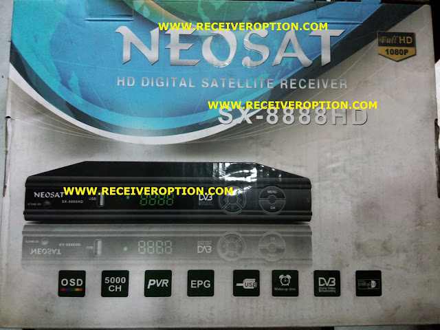 NEOSAT SX-8888 HD RECEIVER AUTO ROLL POWERVU KEY SOFTWARE