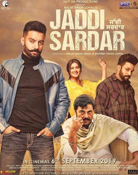 Poster of Jaddi Sardar (2019) Full Movie Punjabi 720p HDRip ESubs Download