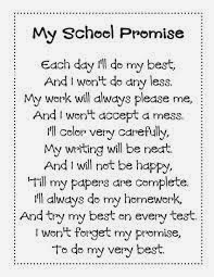 My School Promise English Lines With Image For Students   New