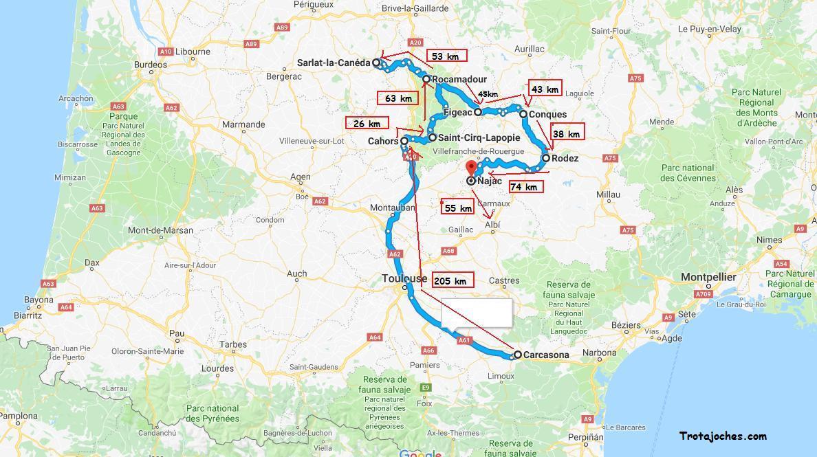 Mapa Sur De Francia Ciudades.Ruta Con Ninos Por Los Pueblos Mas Bonitos Del Sur De