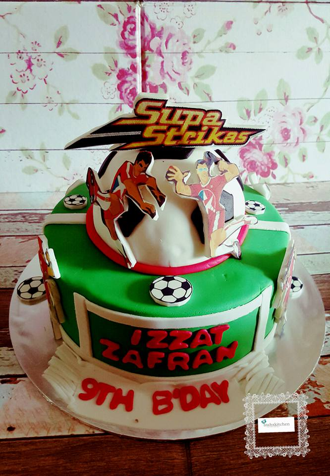 Izah S Kitchen Supa Strikas Themed Cake