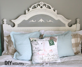 Choosing bedding, pillows and window treatments that are within budget was my task this week of the One Room Challenge   DIY beautify