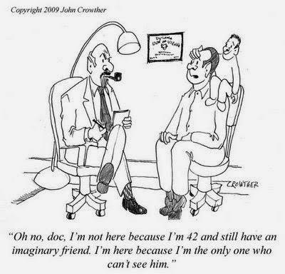funny doctor imaginary friend cartoon joke picture