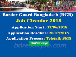 Border Guard Bangladesh (BGB) Civilian Job Circular 2018