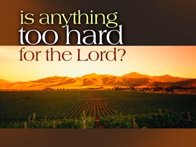 Is Anything Too Hard For God by Joseph Prince