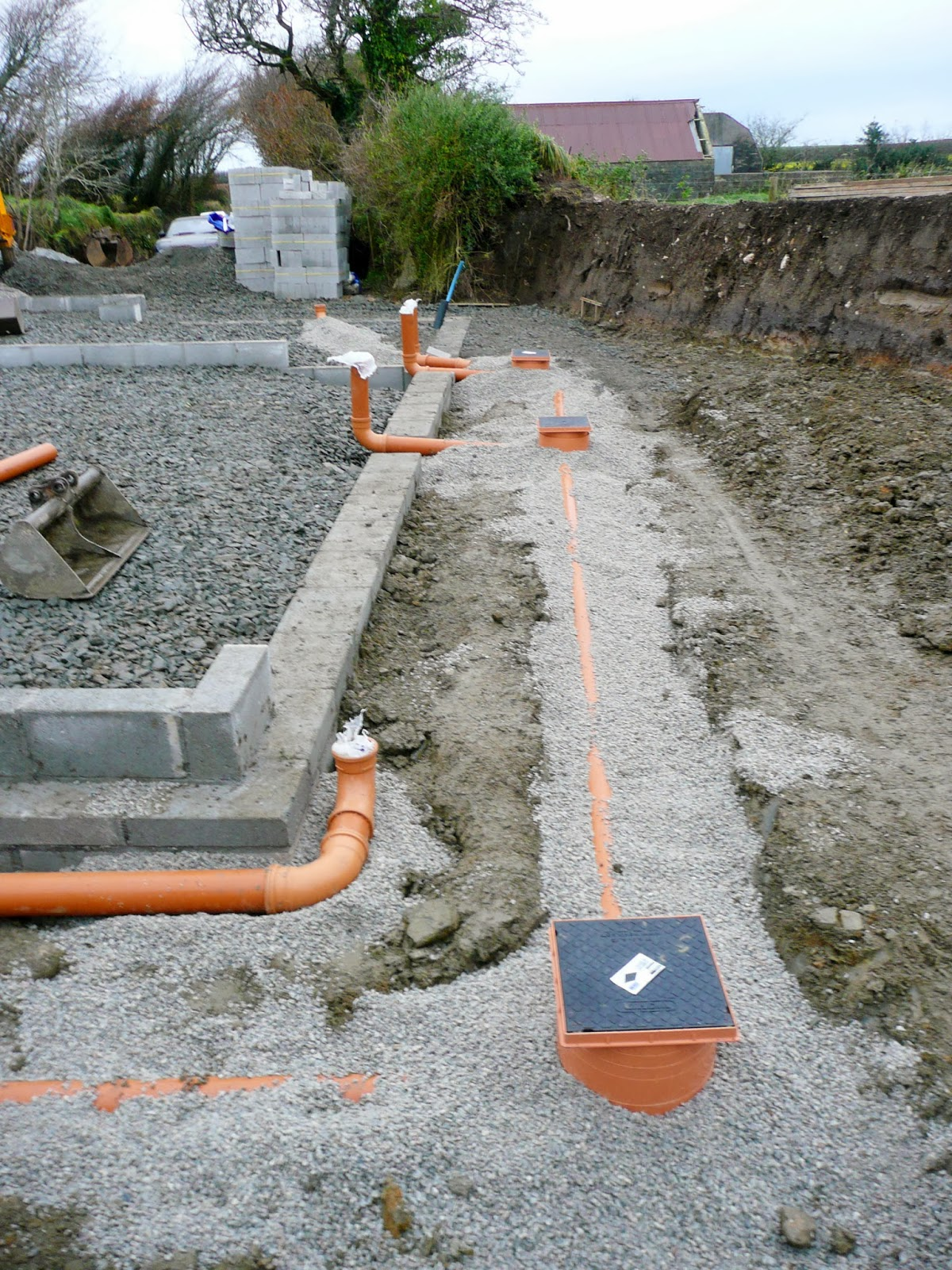 V Amp A S Home Build Groundwork Part 4 Oversite And Drainage